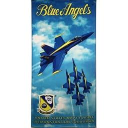Blue Angels Licensed Brazilian Velour Beach Towel 30x60