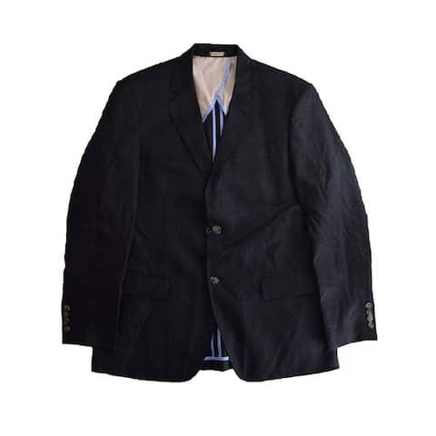 Tasso Elba Mens Blazer Black Size Small S Two Button Notch-Collar