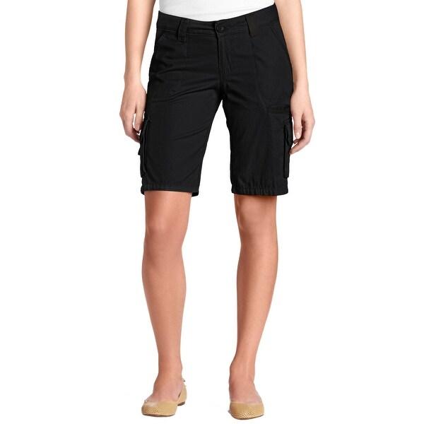 d80f8dc0b6 Dickies Black Women's Size 10 Relaxed Fit Bermuda Walking Shorts