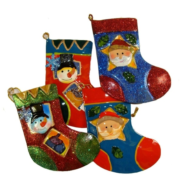 """Club Pack of 144 Santa Claus and Snowman Christmas Stocking Ornaments 5"""" - multi"""