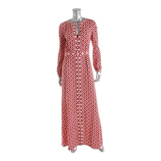 Tory Burch Womens Silk Embellished Maxi Dress - 4