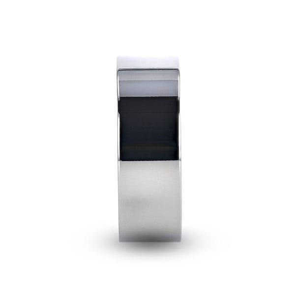 8 mm Lightweight Titanium Thorsten Hardy Polished Finish Flat Style Titanium Wedding Ring Comfort Fit Titanium Rings for Men