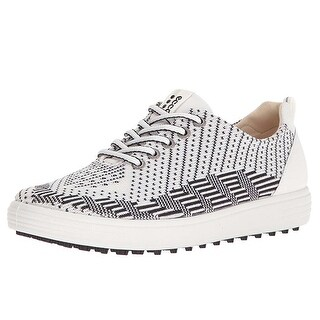 Ecco Womens Golf Casual Hybrid White-Black/White 38 Euro 7-7.5 Shoes