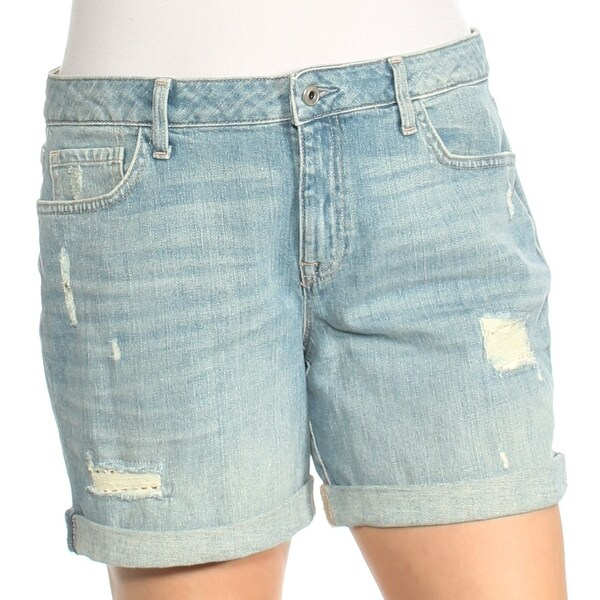 a1eb1803 Shop TOMMY HILFIGER Womens Blue Frayed Jean Short Size: 12 - Free Shipping  On Orders Over $45 - Overstock - 24057823