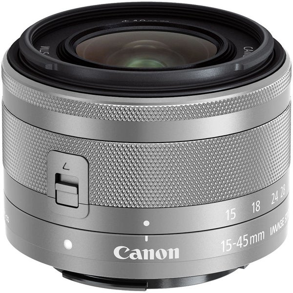 Canon EF-M 15-45mm f/3.5-6.3 IS STM Lens (Silver) (International Model)
