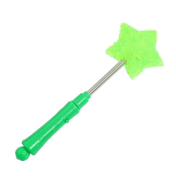 Unique Bargains Plastic Green Handle 3 Modes LED Star Shiny Stick
