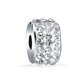 Bling Jewelry 925 Sterling Silver Crystal Stopper Clasp Bead Charm