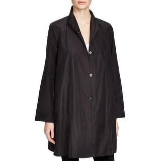 Eileen Fisher Womens Jacket textured High Collar