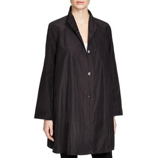 Eileen Fisher Womens Jacket textured High Collar