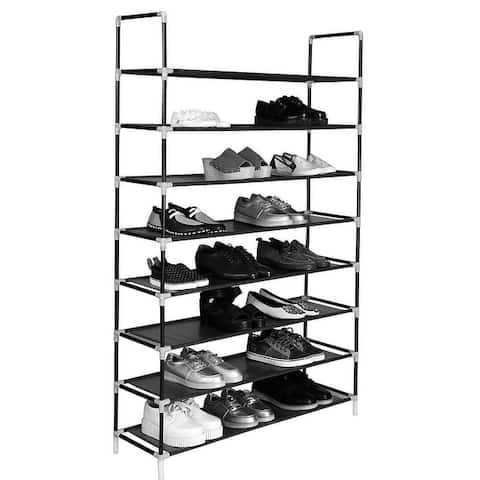 Simple Extra Wide Non-woven Fabric Shoe Rack with Handle 5/8/10 Tiers