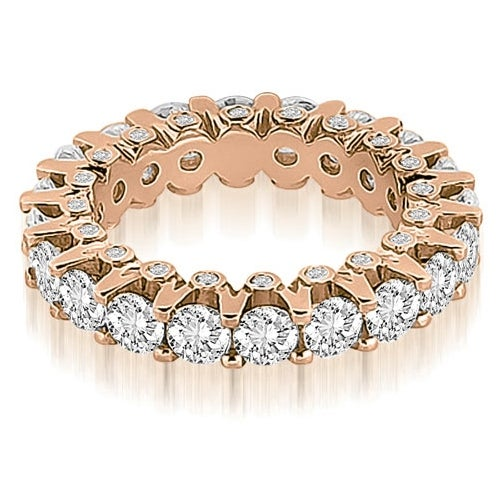 3.20 cttw. 14K Rose Gold Round Diamond Eternity Ring
