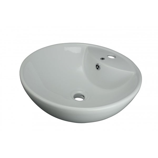 Shop Above Counter Vessel Bathroom Sink White China Faucet ...