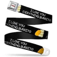 Adventure Time Logo White Full Color Jake Hugging Burrito I Love You Seatbelt Belt