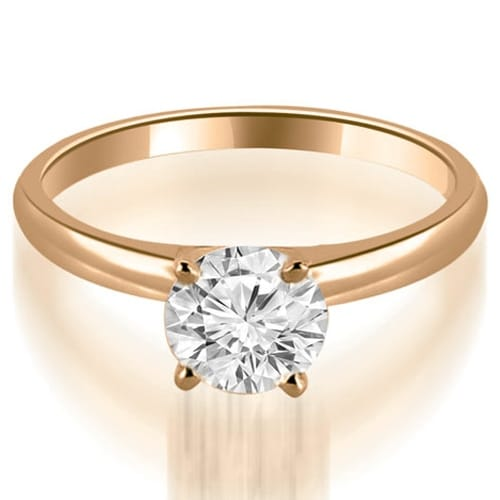 0.50 cttw. 14K Rose Gold Four Prong Classic Round Cut Solitaire Diamond Ring