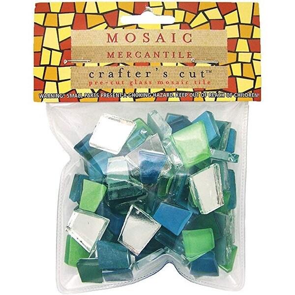 Mosaic Mercantile - Crafter's Cut Pre-Cut Mosaic Tiles - Harmonious Mixes - Solstice Mix, 1/2 lb. Bag
