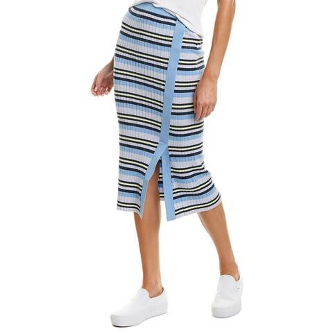 525 America Ribbed Pencil Skirt