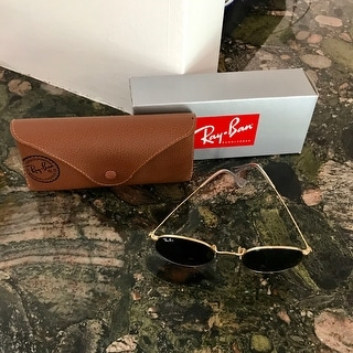 Ray-Ban Round Metal RB 3447 001 Arista Gold Round Metal Sunglasses - 50mm