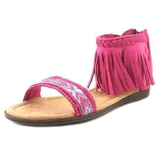 Minnetonka Coco Open-Toe Synthetic Slingback Sandal