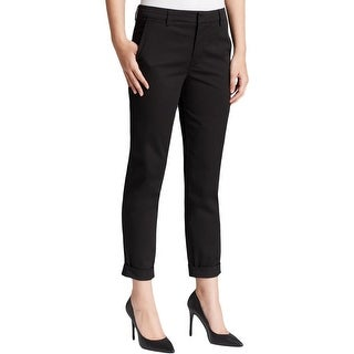 Vince Womens Khaki Pants Flat Front Stretch