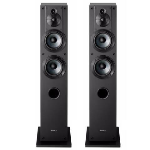 Sony SSCS3 Stereo Floor-Standing Speaker Pair Bundle (Black) - Black