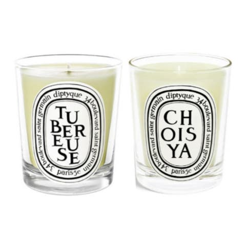 Diptyque Scented Candles Twin Pack (Tuberose, Choisya/ Orange Blossom)