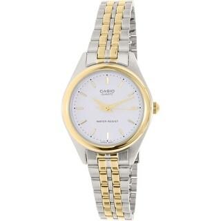 Casio Women's Core  Silver Stainless-Steel Quartz Fashion Watch