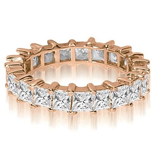 3.50 cttw. 14K Rose Gold Princess Shared-Prong Diamond Eternity Ring