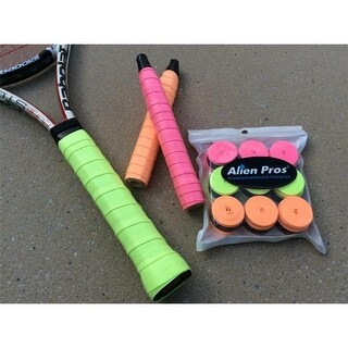 Alien Pros Tacky-feel Neon-Color Overgrips Pack of 9 Pieces