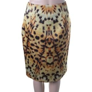 Josh Goot Womens Silk Animal Print Pencil Skirt - 6