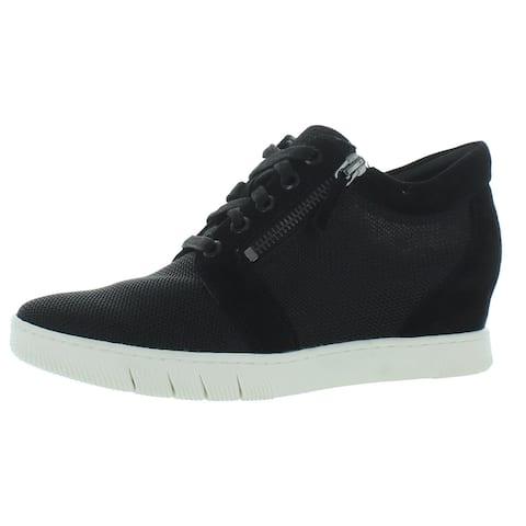 Naturalizer Womens Kai 2 Fashion Sneakers Zip-Up Mesh - Black Mesh/Sued