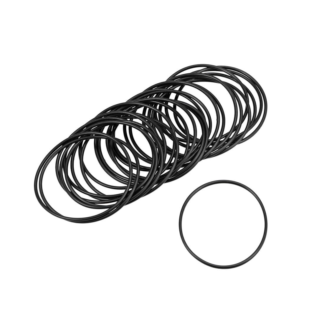 uxcell Nitrile Rubber O-Rings 41mm OD 35mm ID 3mm Width Pack of 10 Metric Buna-N Sealing Gasket