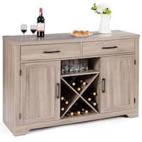Costway Buffet Cabinet Sideboard Console Storage Cabinet With Two Drawers Two Cabinets - as pic