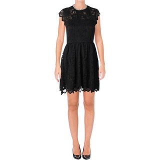 Juicy Couture Black Label Womens Baroque Party Dress Lace Mini