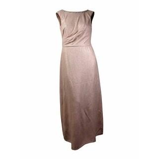 Tahari Women's 'Kevin' Cowl-Back Rhinestone Metallic Gown (6, Gold/Nude) - Gold/Nude - 6