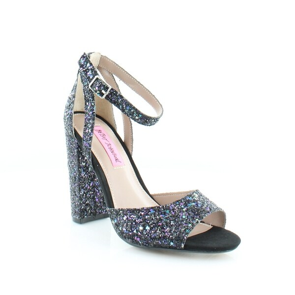 Betsey Johnson Glissten Women's Heels Blk Glittr - 6.5