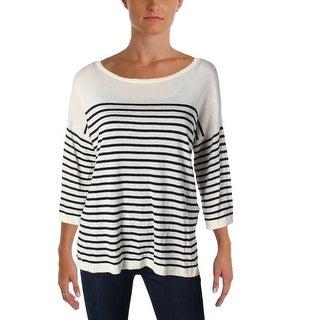 NYDJ Womens Serra Pullover Sweater Linen Striped