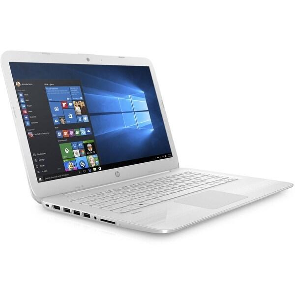 "Refurbished - HP Stream 14-ax027cl 14"" Laptop Intel Celeron N3060 1.6GHz 4GB 32GB Win10 -White"