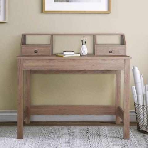Saint Birch Pinning 2-drawer Oak brown Desk with Hutch