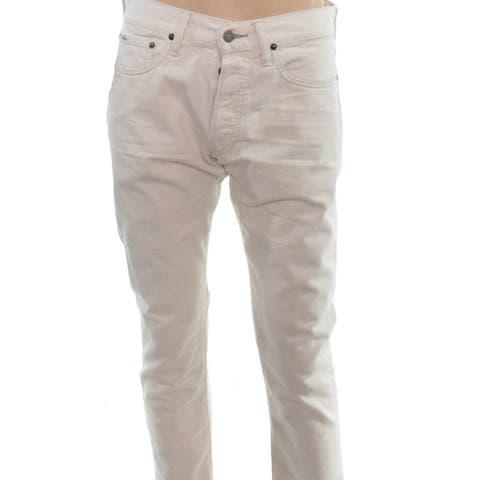 Polo Ralph Lauren Mens Jeans Beige Size 34x32 Slim-Fit Button-Fly
