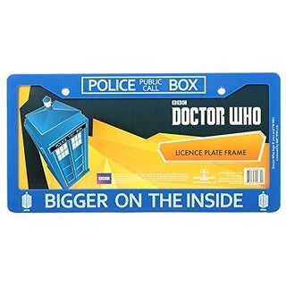 Doctor Who License Plate Frame: Bigger On The Inside