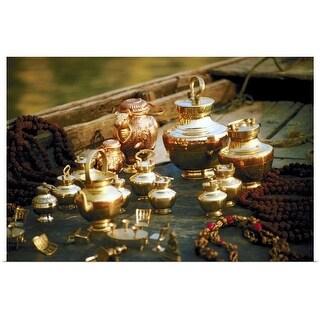 """""""Indian teapot set"""" Poster Print"""