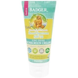 Badger Baby SPF 30 Broad Spectrum Zinc Oxide Active Sunscreen Cream