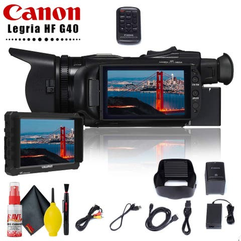 "Canon Legria HF G40 Full HD Camcorder (PAL) + 7"" Monitor + Cleaning"