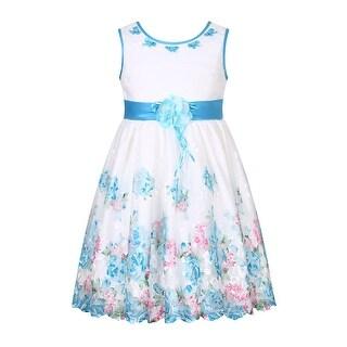 Richie House Girls' Sweet Princess Flower Dress