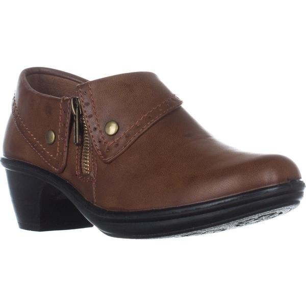 Easy Street Darcy Comfort Ankle Boots, Tan Burnished