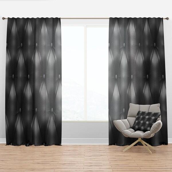 Designart 'Luxury Classic Black Sofa Leather' Modern & Contemporary Curtain Panel. Opens flyout.