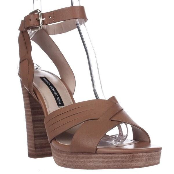 French Connection Gilda Ankle Strap Dress Sandal, Safari Sand - 10 us / 41 eu