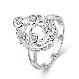 Classic Crystal Petite Gems Swirl Emblem Ring