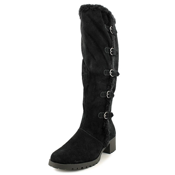 Aerosoles Nesst Egg Women Round Toe Suede Black Knee High Boot