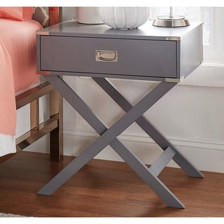 Link to Kenton X Base Wood Accent Campaign Table by iNSPIRE Q Bold Similar Items in Living Room Furniture